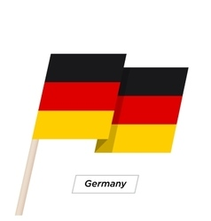 Germany Ribbon Waving Flag Isolated on White vector
