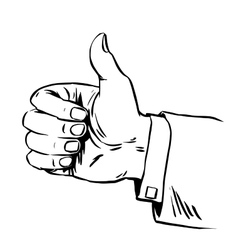 Gesture everything is fine thumb up business vector