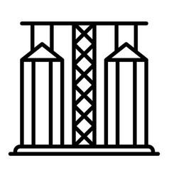 Grain elevator icon outline style vector