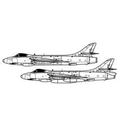 hawker hunter vector image