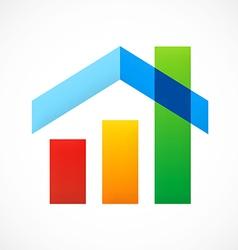 Home design graph sold construction logo vector