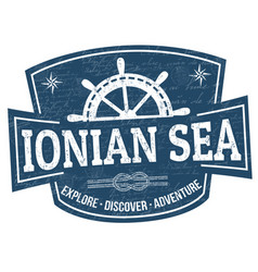 ionian sea sign or stamp vector image
