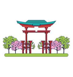 Japan landmarks design vector