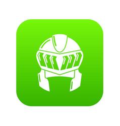 Knight helmet medieval icon green vector