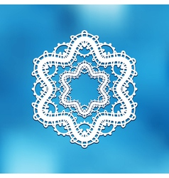 Lace on blur vector image