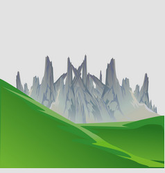 Landscape mountain nature travel sky hill outdoor vector