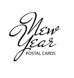 lettering new year postal cards text vector image