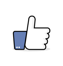 like - icon like in flat style like icon thumb up vector image