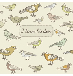 Love Birds Background vector
