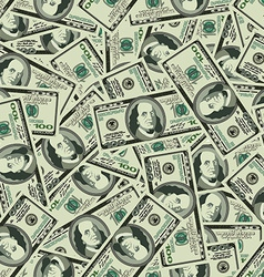 Money seamless background texture pattern dollar vector image