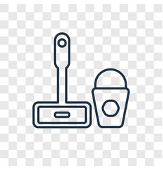 mop cleanin concept linear icon isolated on vector image