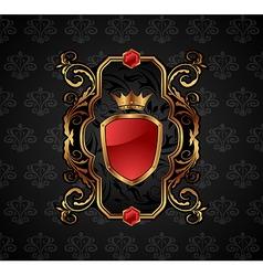 ornate decorative golden frame - vector image