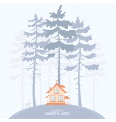 pine and lodge vector image