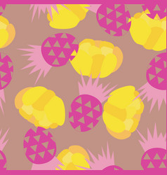 pineapple background vector image