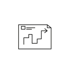 planning icon vector image