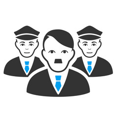 Police team flat icon vector