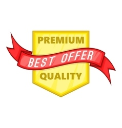Premium quality label icon cartoon style vector image