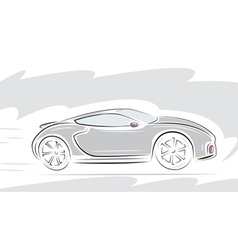 racing sport car vector image