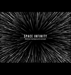 sapce infinity abstract background motion in vector image