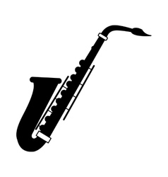 Saxophone black icon vector