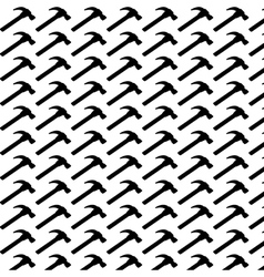 Seamless pattern background of hammer vector image