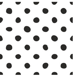 Seamless pattern with tile black polka dots vector