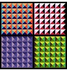set geometrical patterns vector image