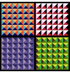 Set of geometrical patterns vector