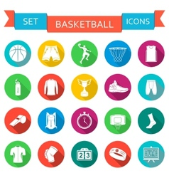 Set of icons basketball vector image