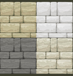 Set texture of old stone vector