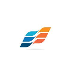 shape colorful flag logo vector image