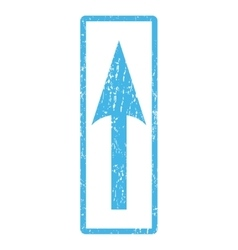 Sharp Arrow Up Icon Rubber Stamp vector
