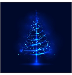 Shining christmas tree vector image vector image