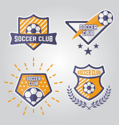soccer isolated emblems or logos part 1 vector image