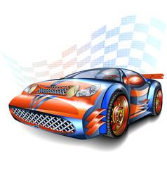 Speeding racing car vector
