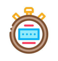 stopwatch icon outline vector image