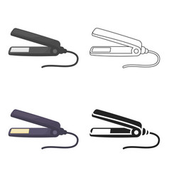 Straighteners irons icon in cartoon style isolated vector