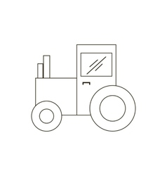 Tractor path vector image