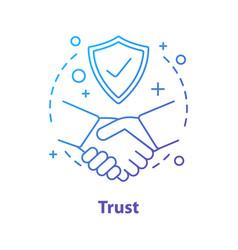 Trust concept icon vector