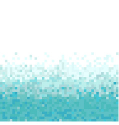 Turquoise abstract pixel background vector