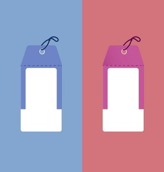 Useful two tone paper tags vector image