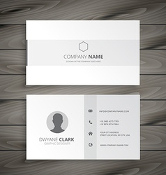 white minimal business card vector image
