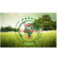 World environment day background with forest vector