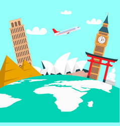 world tour vacation color vector image