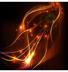 Abstract design-colorful smoke on black background vector image vector image