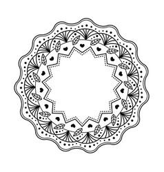 black mandala isolated on white background vector image