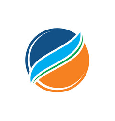 circle arrow sphere business logo vector image