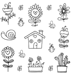 Doodle of spring object vector