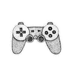 dotwork gaming console vector image vector image