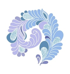 Abstract flourish design element vector image